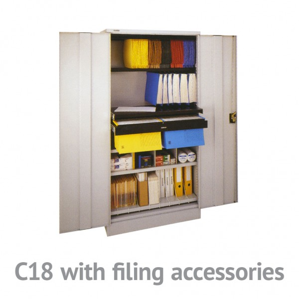 C18 cupboard with filing accessories