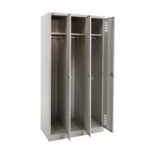 Locker Full-Height 3 Door Open