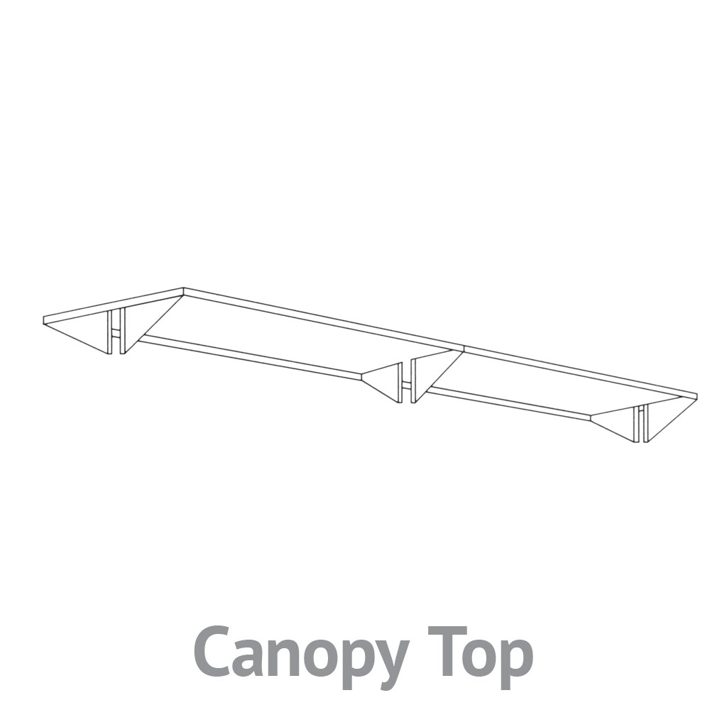 Library Shelving Canopy Top Brownbuilt