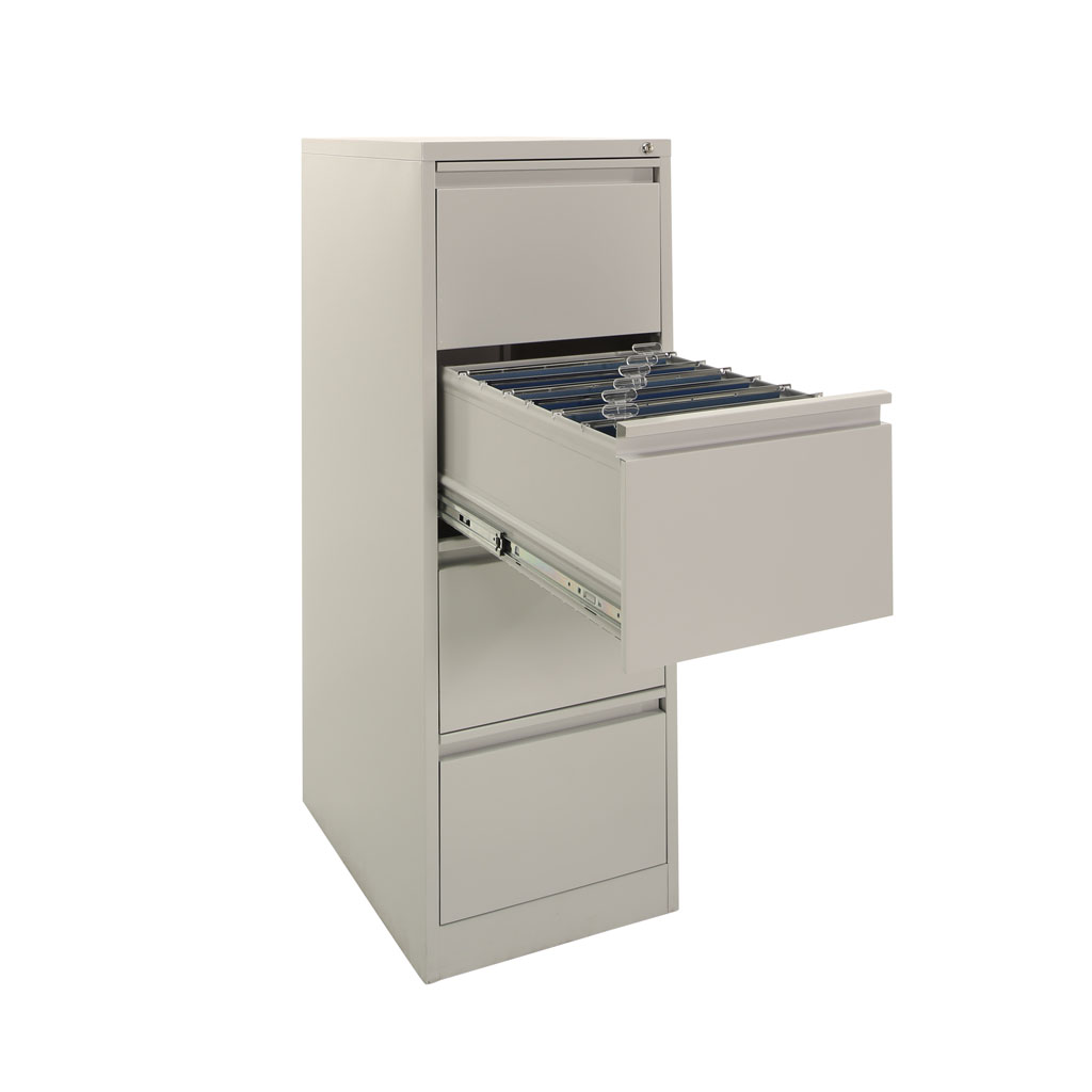 open file cabinet. Grey 4 Drawer Filing Cabinet With Flush Handles Open File