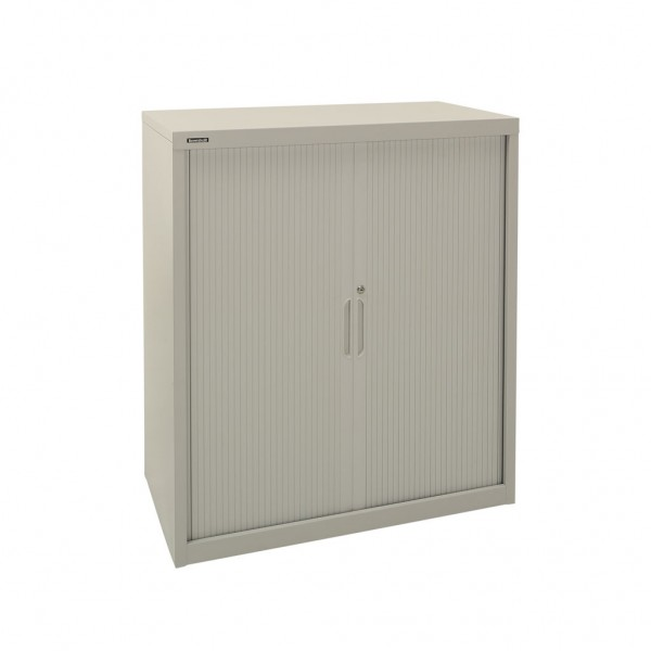 900w X 1020h Tambour Cupboard in Grey