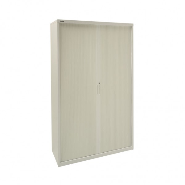 1980h Tambour Cupboard in Grey